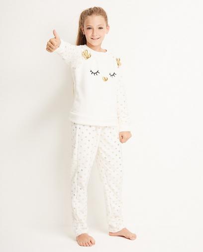 Pyjama crème 7-14 ans